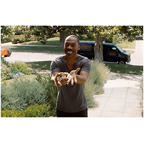 A Thousand Words 8 Inch x 10 Inch Photo Eddie Murphy Big Smile Hands Out in Offering kn