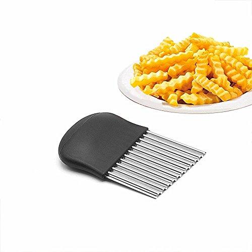 Himki Coupe-pommes de terre de forme ondulée en acier inoxydable Pour les frites