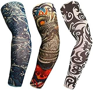 Brats N Beauty® 3 Pair Art Arm Fake Tattoo Sleeves Cover For Unisex Party Cool Man Woman Fashion Tattoos & Body Art Tempor...