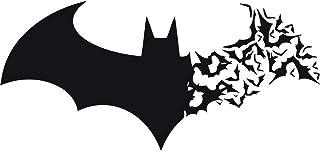 Halloween Batman - Adhesivos de pared de vinilo para pared, diseño de pared, color negro, 57 x 27 cm