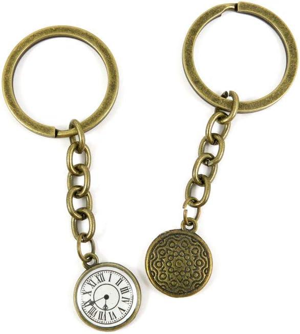 5 Items Keychain Keyring Key Tags Chains Rings Jewelry Bag Charms R8IO7 Pocket Watch Clock