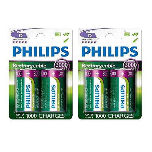 4x Philips Tamaño D...