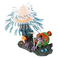 POPETPOP 水族館の装飾サンゴ植物水槽風景装飾輝くアクセサリー