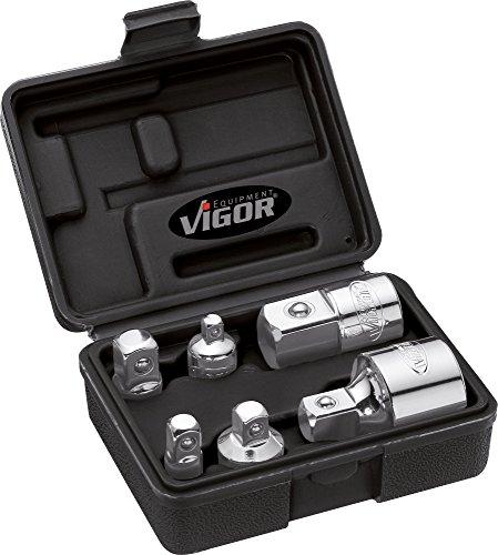 Vigor Adapter-Satz Vierkant-Antrieb (6,3 mm, 1/4 Zoll, 10 mm, 3/8 Zoll, 12,5 mm, 1/2 Zoll, 20 mm, 3/4 Zoll, 6-teilig) V1293