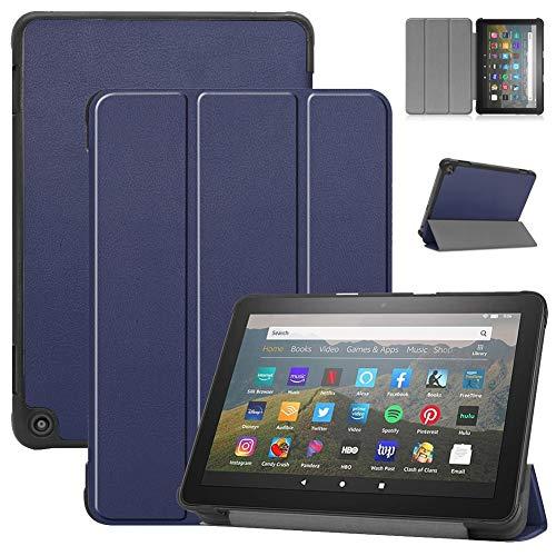 HHF Pad Accesorios para Amazon Fire HD 8/8 Plus 2020, Smart Tablet Funda de Cuero PU Tri-Fold Soporte Protector Cáscara automática Wake/Sleep Funda para Amazon Fire HD 8/8 Plus 2020