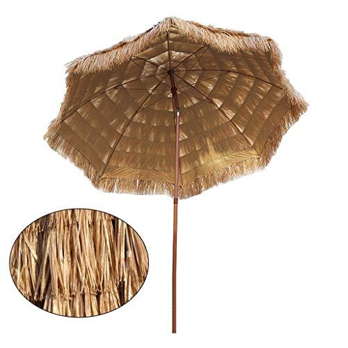 Sombrilla de jardín de 7,9 pies / 2,4 m Sombrilla de Paja para Playa, Sombrillas inclinables para Exteriores Sombrillas Grandes de Picnic para Patio, protección UV, sin Base