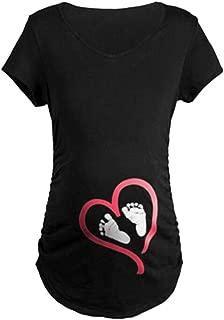 Q.KIM T-Shirt de Maternit/é Femme Maternit/é Grossesse Amusant Humour Imprim/é-S/érie de Fesses de B/éb/é