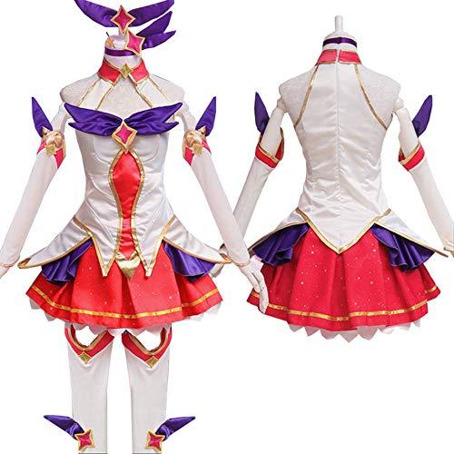 CHANGL LOL Star Guardian Ahri Cosplay Kostüme Magic Girl das neunschwänzige Fox Cosplay Kleid Full Set Perücken Anime Großhandel