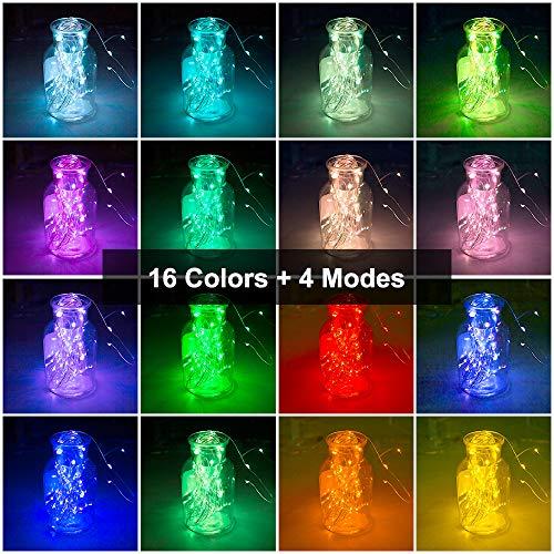 XINKAITE - Guirnalda de luces LED impermeables de 32.8 pies con 100 leds para decoración de sala de estar, cocina, dormitorio, fiesta, boda
