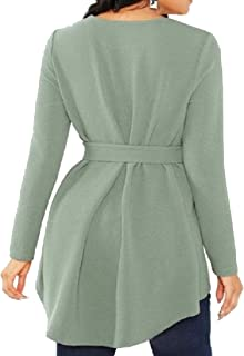 Miracle Womens Plus Size Raw Hem Ruffle Short Sleeve Belted Flare Peplum Blouse Top
