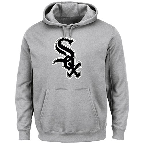 VF LSG MLB Chicago White Sox Men's Tek Patch Fleece Sweatshirt, XX-Large, Steel Heather