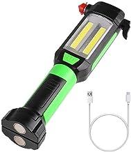 SLKHWYD Rechargeable LED Flashlight Lantern Portable Work Light Inspection Lamp COB LED Lamp Magnetic Base Camping Multifu...