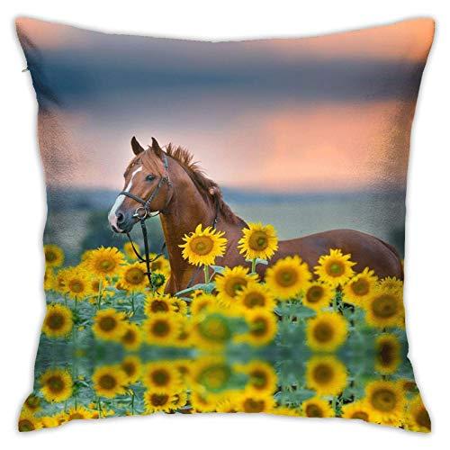 Sunflowers Premium - Funda de cojín de 45,7 x 45,7 cm para casa, cama, sofá, coche, etc.