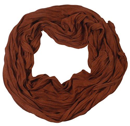kobaja–Tiras reflectantes–Crinkle Look Toalla de algodón elegante Fashion Unisex Crushed y crinkled terra braun Talla única