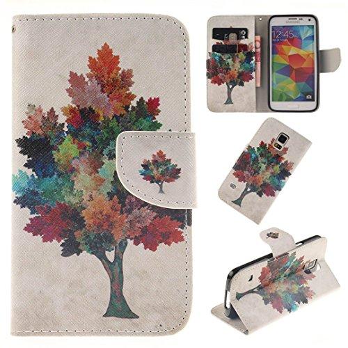Samsung Galaxy S5 / S5 Neo Hülle im Bookstyle, Xf-fly® PU Leder Flip Wallet Case Cover Schutzhülle für Samsung Galaxy S5 / S5 Neo (5.1 Zoll) Tasche Handytasche Schutz Etui Schale Handyhülle
