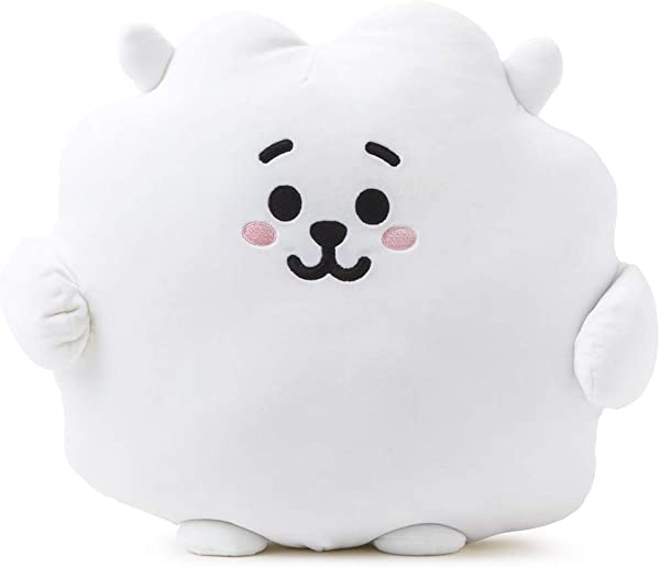 BT21 Official Merchandise By Line Friends RJ Character Pong Pong Cushion 11 8 Inches