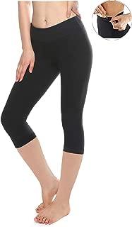 Buttery Soft Capri Leggings for Women - High Waisted Capri Pants with Pockets - Reg & Plus Size - 10+ Colors