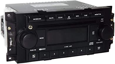 1 Factory Radio AM FM 6 Disc CD Player w Aux Input Compatible With 2004-10 Jeep Chrysler Dodge RAQ P05091720AD