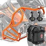 Set Defensas + Faro Adicional S2 para KTM 790 Adventure/R 19-21 Naranja + K3