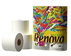 XXL Toilet Rolls per pack made using sustainable resources and green production processes 100% Recycled Paper No Dyes No Fragrances Chlorine European Commission Eco-Label Certified 84 White Toilet Paper Rolls (6 Per Pack) 280 Sheets per Roll (approx)...