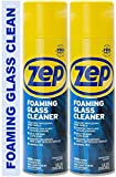 Zep Foaming Glass Cleaner ZUFGC19 (Pack of 2) - Clings to Dirt, Trusted by pros