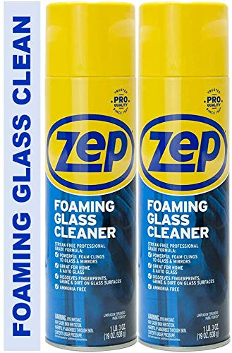 Zep Foaming Glass Cleaner ZUFGC19 Pack of 2  Clings to Dirt Trusted by Pros