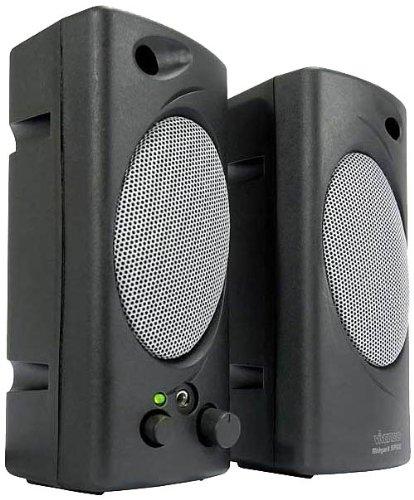 Vivanco Midgard 60P 2.0-Lautsprecher mit 1W RMS und Kopfhöreranschluss in silber/schwarz