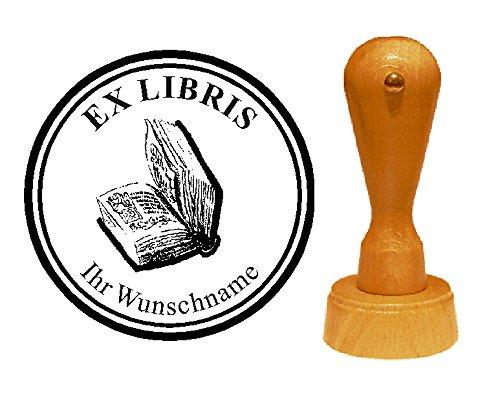 Ex Libris Exlibris stempel boek - met persoonlijke wensnaam en motief