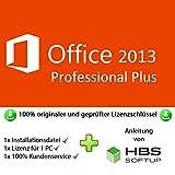 MS Office 2013 Professional Plus 32 bit & 64 bit Vollversion Multilingual - Original Lizenzschlüssel per Post und E-Mail + Anleitung von HBS SOFTUP® - Versand max. 60Min