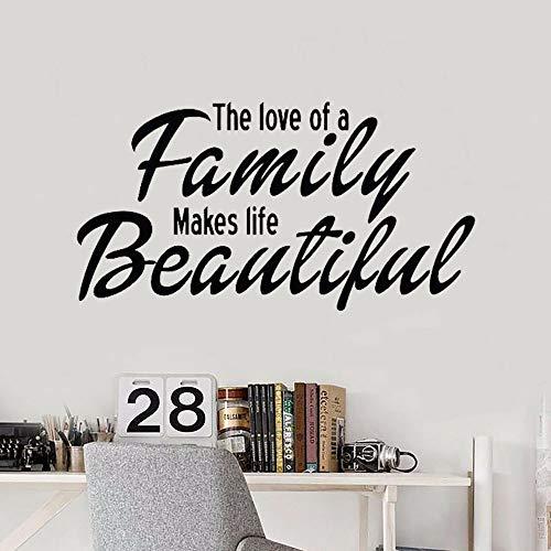 HFDHFH Citas en la Pared calcomanías de Vinilo Pegatinas Cocina baño el Amor Familiar Hace la Vida Hermosa Sala de Estar decoración del hogar