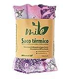 Cuscino termico con semi ed erbe naturali. Buono per caldo e freddo (45cm x 15cm) – Lavanda – MITE (Mandala rosa)