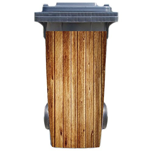 Aufkleber für Mülltonne Mülltonnenaufkleber - Motiv Holzpalisade
