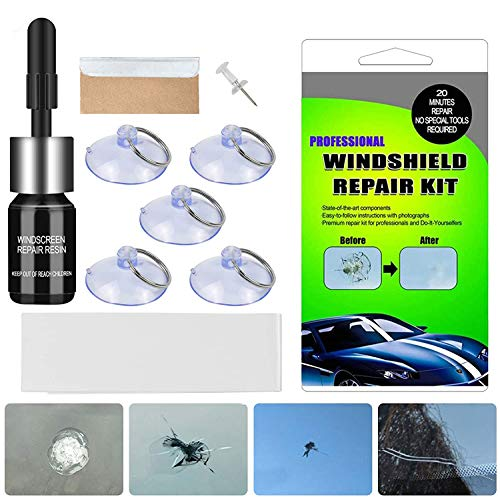 BESWORLDS Car Windshield Repair Kit - Windshield Repair Kit with Pressure Syringes for Fix...
