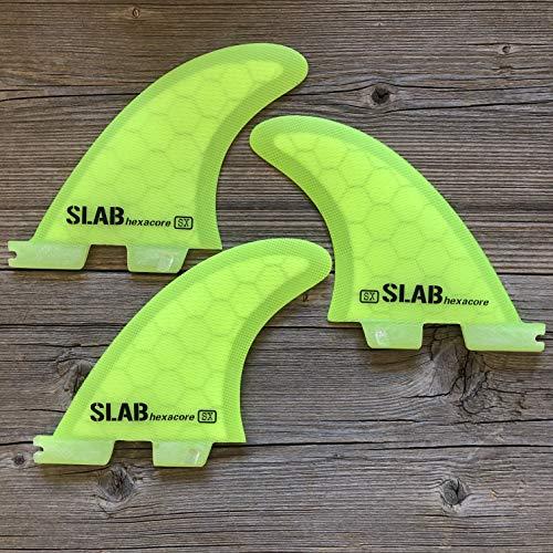 Slab-Surf Fins Thruster hexacore Half Yellow FCS 2 Talla S
