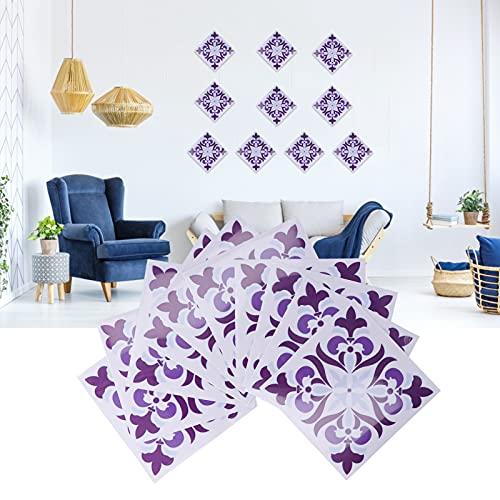01 Adhesivo para Azulejos, Conjunto de Adhesivos para Azulejos a Prueba de Aceite Calcomanía de Pared Adhesivo de Pared para baños para Oficina para el hogar para Dormitorio para cocinas