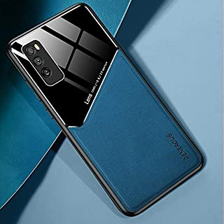 For Huawei Enjoy Z 5G All-inclusive Leather + Organic Glass Protective Case with Metal Iron Sheet Waterproof (Color : Roya...