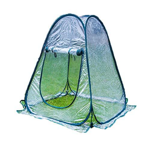 Serre En Plastique, Prends Le Avec Toi Mini Serre Imperméable Anti-neige Étanche À La Poussière Extérieur Serre De Tomates (Color : Clair, Size : 75x75x80cm)