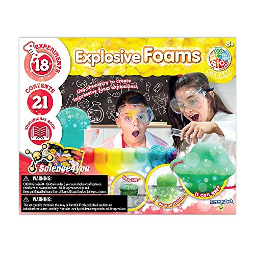 PlayMonster Science4you - Explosive Foams -- 18 Explosive Experiments to Learn About Science -- Fun,...