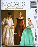 McCalls 3681 Misses Lined Top & Skirt Wedding Gown, Evening Gown Brides Maid Outfit Sewing Pattern Size 12-14-16-18 Bust 34-36-38-40