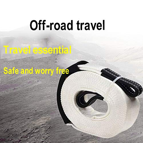 Great Deal! Gjjtcd Car Tow Rope-Heavy Recovery Trailer Belt Widened Thickened Traction Ropes Emergen...