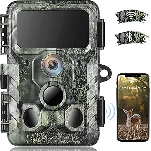 4K Native WiFi Trail Camera - 30MP Wildlife Camera with Night Vision Motion...