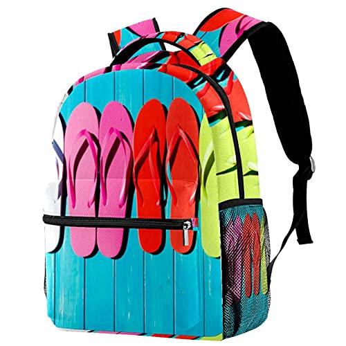 RuppertTextile Zaino piccolo per borsa da viaggio Duffel Fashion Sackpack per ragazze e ragazzi Piscina infradito in legno argilla in legno con cerniera sulla spalla