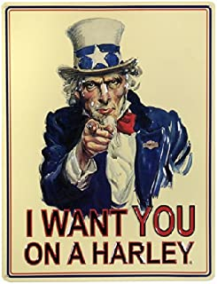Uncle Sam I Want You Harley-Davidson® Sign