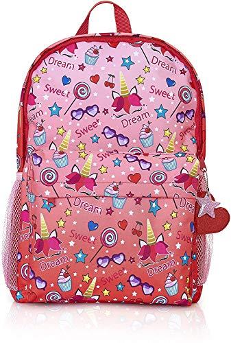 KreativeKraft Mochila Niña de Unicornios, Mochila Escolar de Gran Capacidad, Mochila Unicornio Niña para Preescolar Colegio Viajes, Regalos Originales para Niñas y Adolescentes