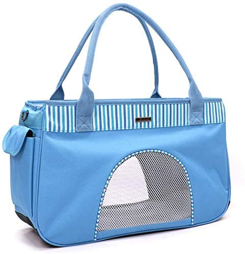 XBR Pet Travel Carrier,Breathable Soft Sided for Dogs Cats Comfort Strong Oxford Fabric Bag Tote Small Animals with Mesh Top and Sides Portable Dog CatPortable Pet Carrier