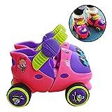 LZLWL 20-30yd Adjustable Ice Roller Skate for Beginner 2-6 Years Old Kids Children -...