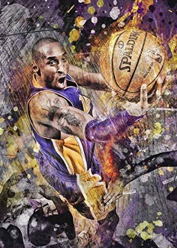 1000 piezas de rompecabezas clásicos para adultos, estrella del baloncesto de la NBA, Lakers, Kobe Bryant, rompecabezas para niños, 52x38cm, juegos de rompecabezas educativos, colecciones de arte DIY
