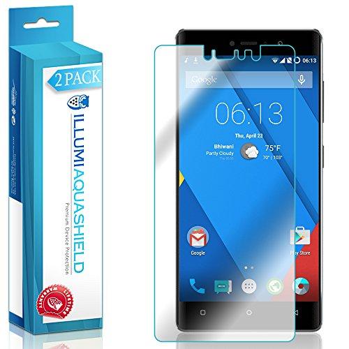 ILLUMI AquaShield Screen Protector Compatible with BLU Vivo 5R (2-Pack) No-Bubble High Definition Clear Flexible TPU Film