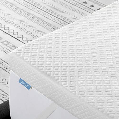 Lauraland 3寸床垫脚垫大号床,通风凝胶注入记忆泡沫床垫衣襟,可清洗的低过敏盖和主动冷却可洗盖
