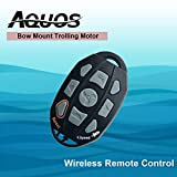 AQUOS Haswing Bow Mount Trolling Motor Wireless Remote Control for 12V 55LBS or 24V 80LBS Trolling Motor